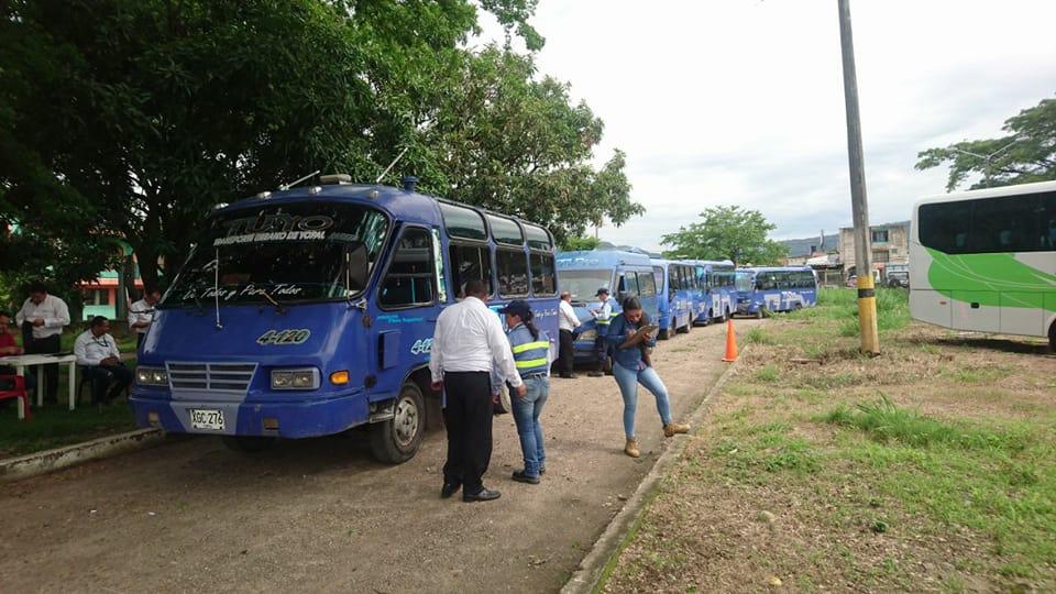 Vehículos de servicio público colectivo de Yopal a revisión