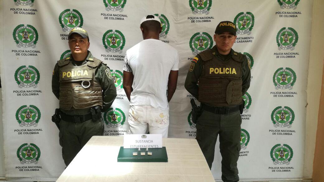 Policía capturó en flagrancia a un hombre por tráfico de estupefacientes en Villanueva
