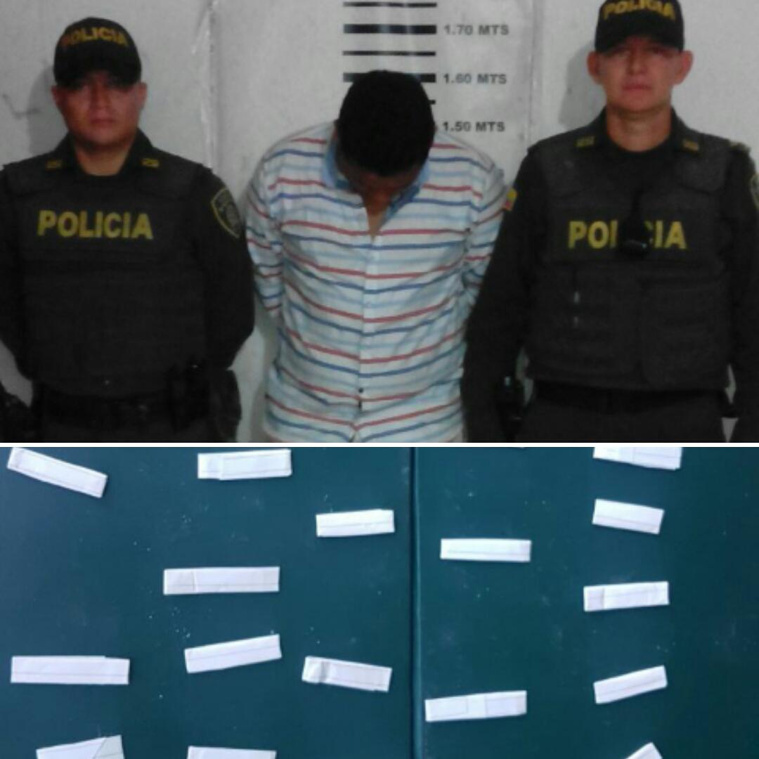 Policía halla bazuco y cocaína a jíbaros en calles de Villanueva y Yopal