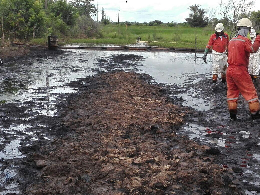 Contaminación ambiental por derrame de crudo de Ecopetrol en Maní