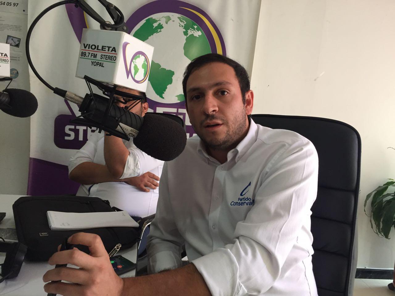 #EnAudio Juan Felipe Corso vicepresidente del partido Conservador habla de fortalecimiento del partido en Casanare