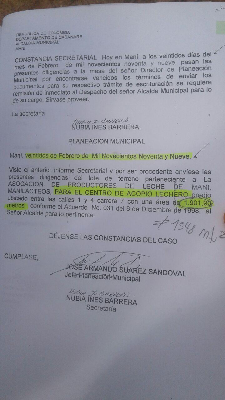 #EnAudio disputa en #Maní por predios de la asociación de lecheros.
