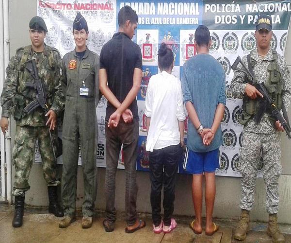 En Vichada tres personas capturadas cuando ingresaban contrabando de combustible y licor.