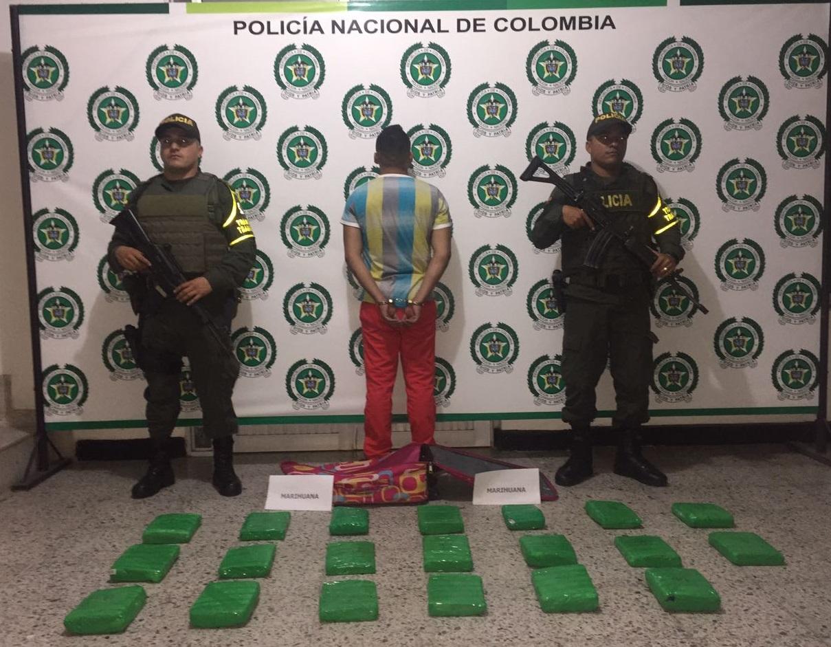 De Villao traían 20 paquetes de marihuana para distribuir en Yopal