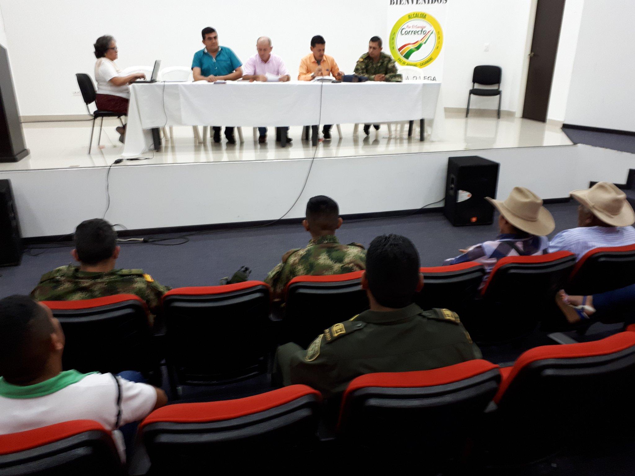 Se realizó reunión en Paz de Ariporo para mediar en conflicto entre indígenas y finqueros