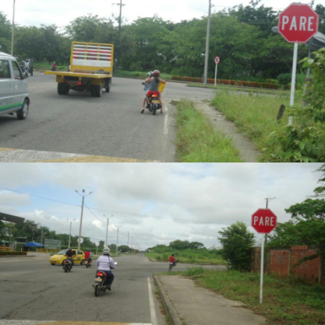 Confusa señalización causa graves accidentes de tránsito en Yopal