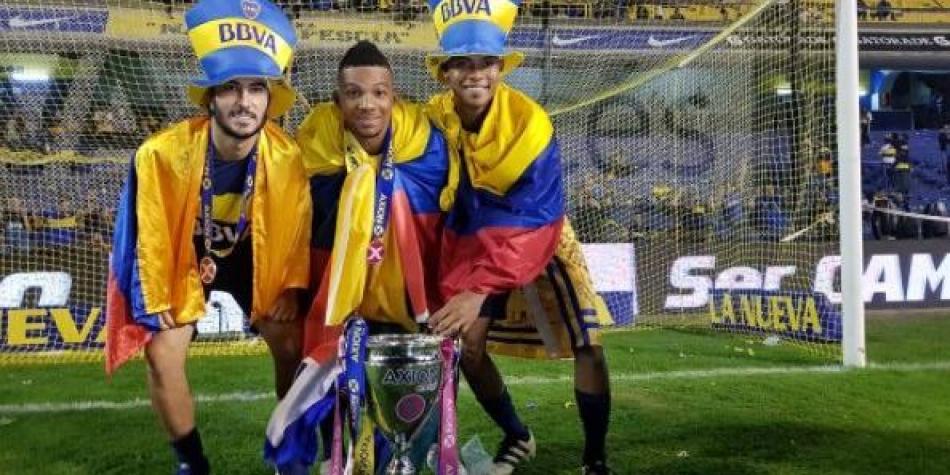Barrios, Fabra y Pérez, campeones con Boca Juniors en la Bombonera