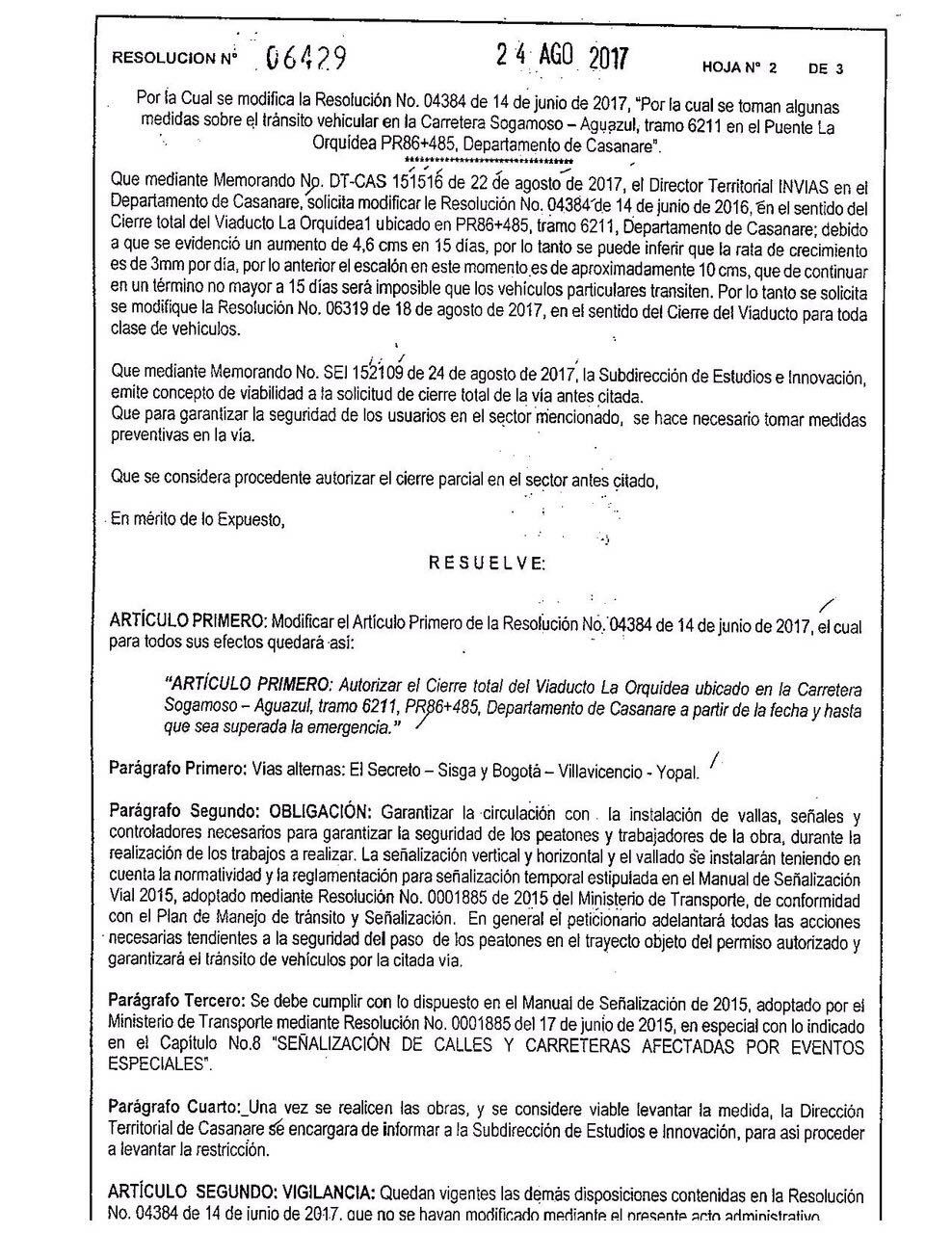 Incomunicado Casanare con Bogotá por vía del Cusiana