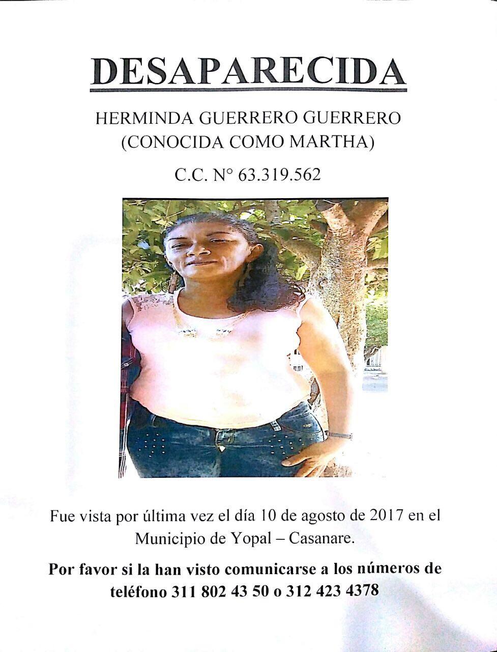 #EnAudio Familiares buscan a una mujer desaparecida en #Yopal.