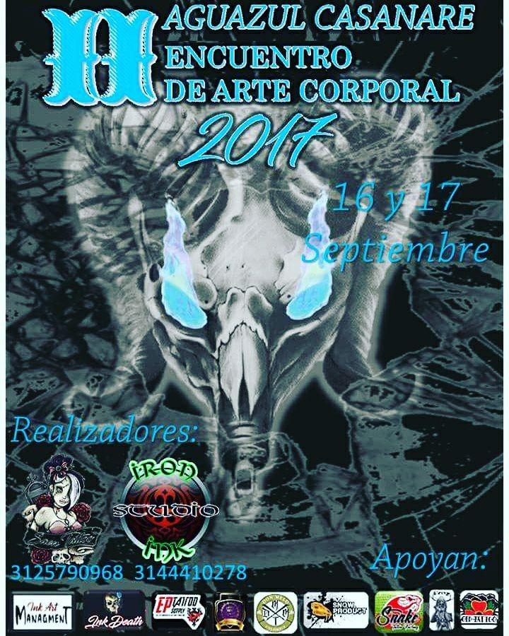 #EnAudio II Convención de Tatuadores en Aguazul el dia 16 y 17 de septiembre.