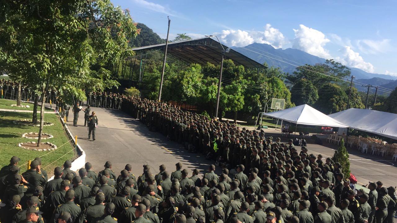 Policía Metropolitana de Villavicencio se prepara para visita del Papa.