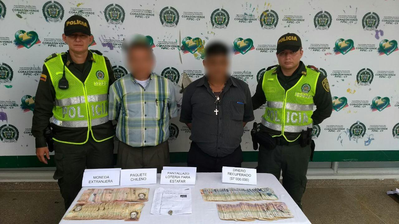 Capturados dos hombres por estafa con la lotería falsa y el paquete chileno