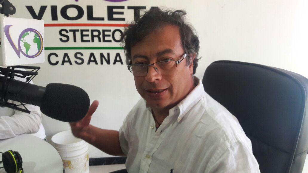 #EnAudio Precandidato presidencial Gustavo Petro de visita en Casanare