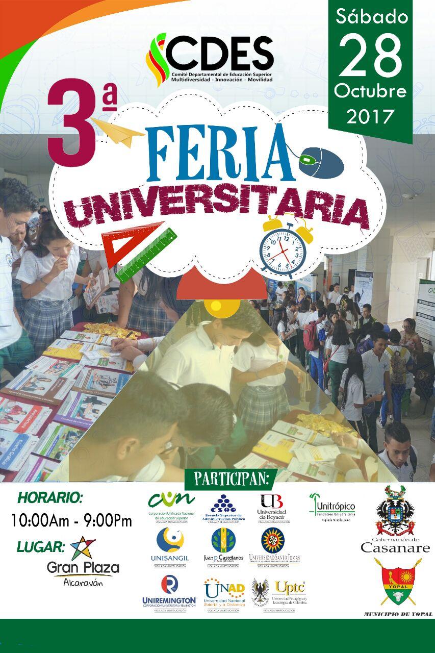 #EnAudio Este sábado feria universitaria en CC Alcaraván