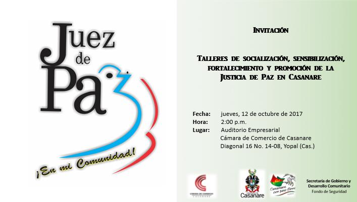 Inician talleres para proceso de selección de Jueces de Paz en Casanare