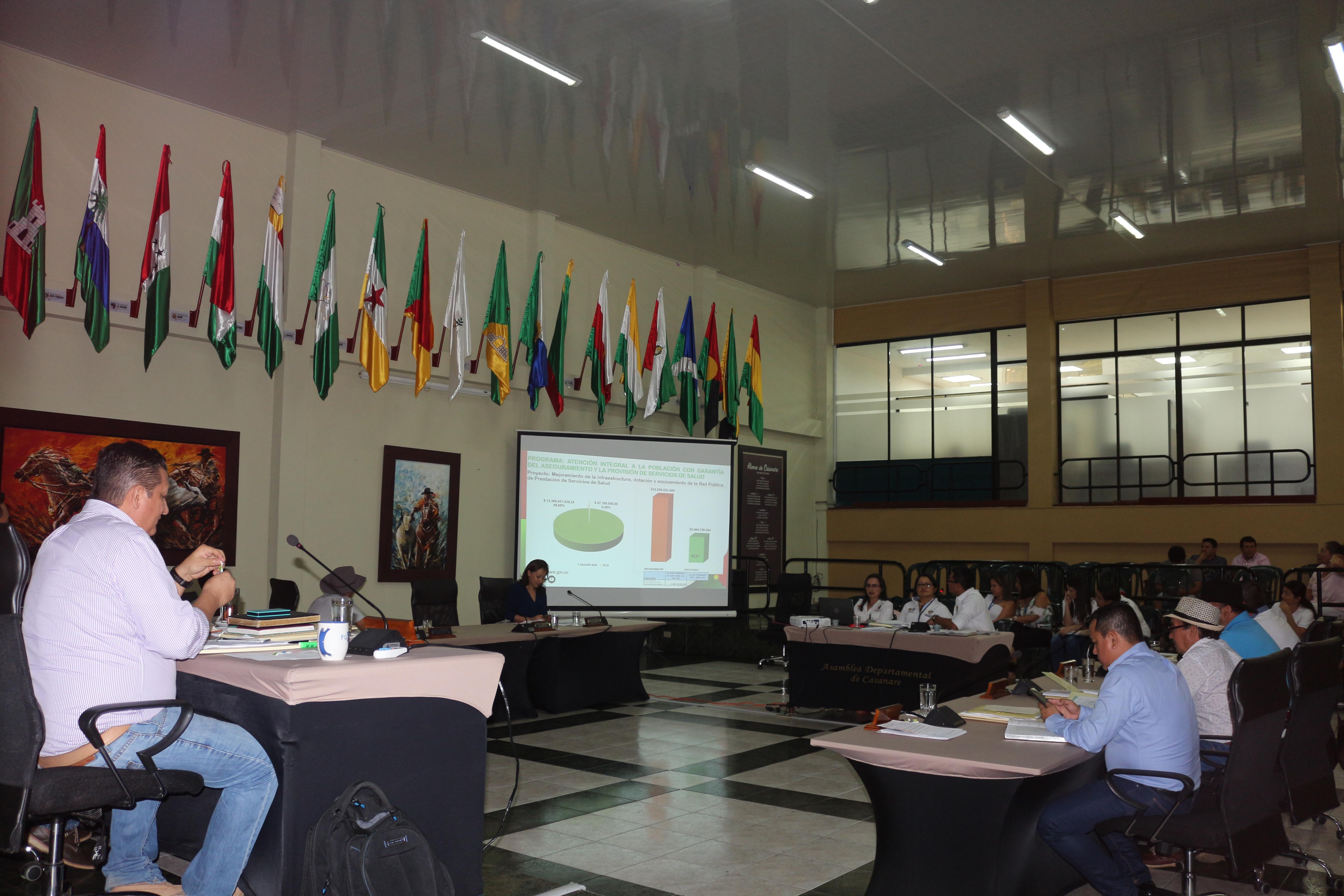 Inversiones en el sector Salud en Casanare expuso la gobernación ante la asamblea departamental