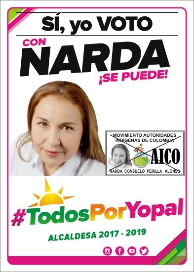 #EnAudio Narda Perilla candidata por AICO a la alcaldía de Yopal, celebra sus cumpleaños compartiendo con las comunidades de la Bendición.