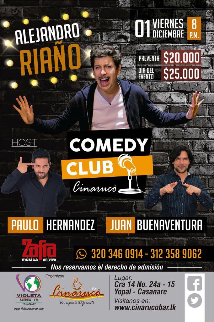 """#EnAudio Paulo Hernandez, comediante invitado al """"Comedy club"""" en Cinaruco."""
