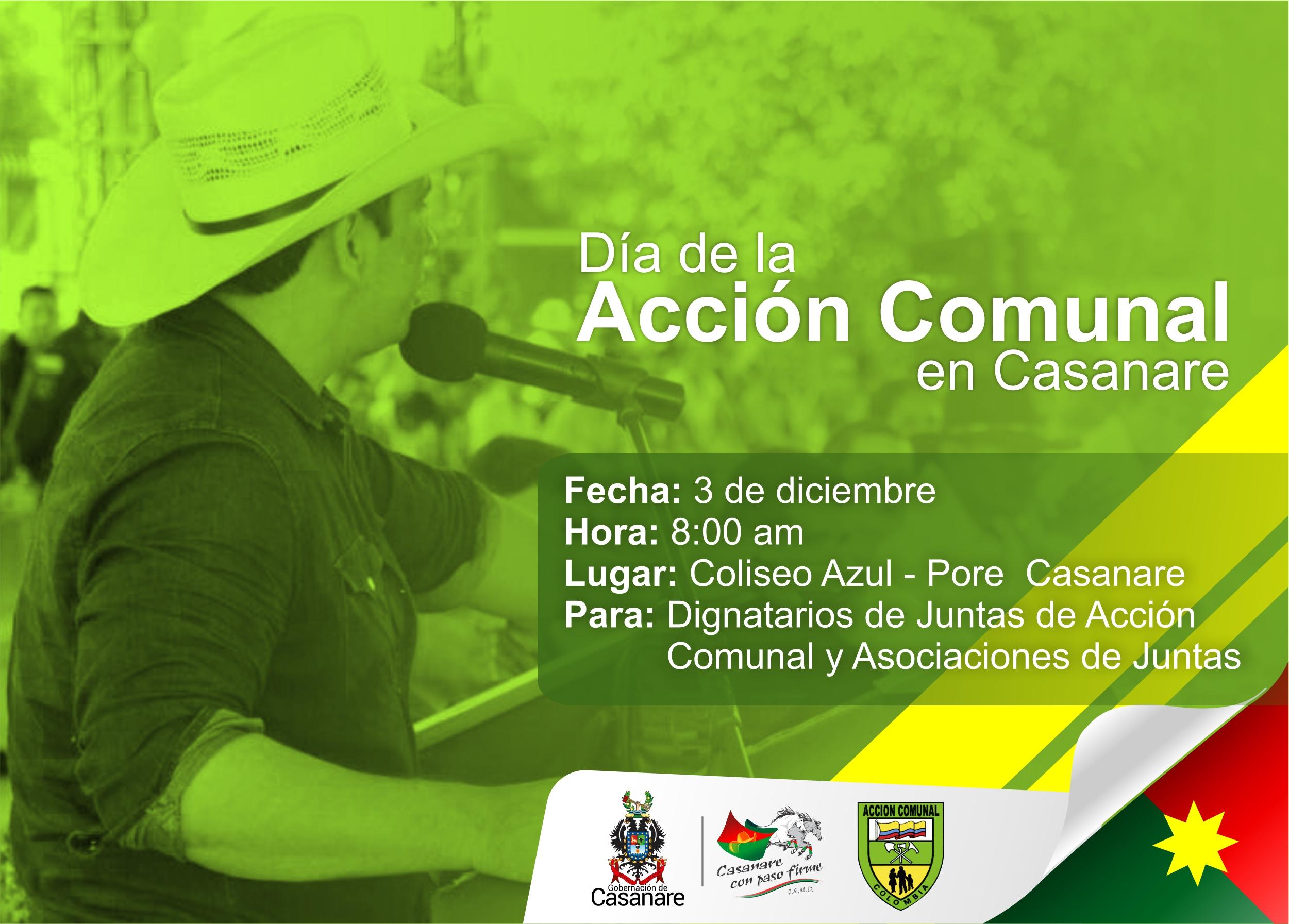 En Pore, la Gobernación de Casanare celebrará este año el Día de la Acción Comunal