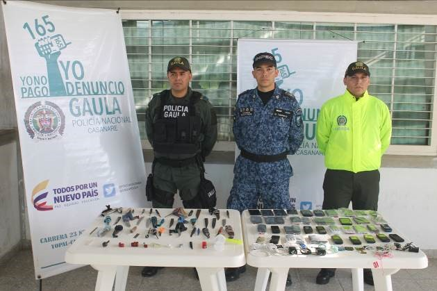 Más de 40 celulares y 25 armas blancas incautaron en la cárcel La Guafilla