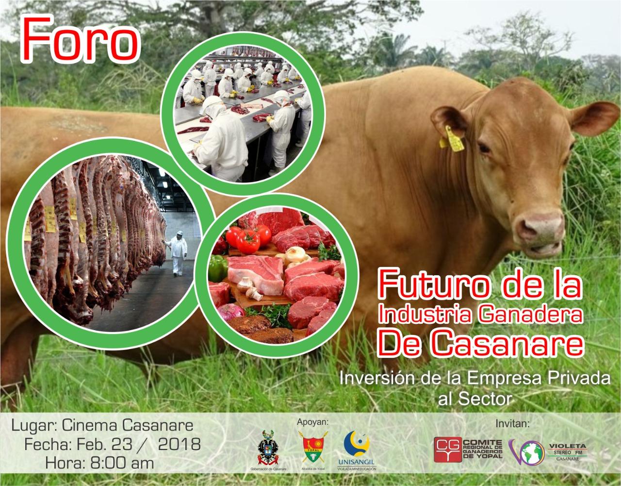 #EnAudio Foro sobre proyectos para frigorífico y negocio ganadero en #Yopal se realiza hoy en Cinema Casanare. Invitados posibles inversores.