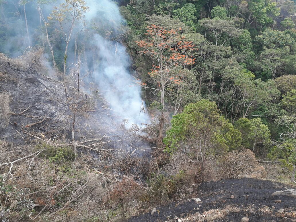 #EnAudio Incendio que inicio a las 10 a.m. de día de hoy en Paramito Tamara amenaza con quemar tramos de la tubería del acueducto del casco urbano de Tamara: Comandante de Bomberos Tamara.