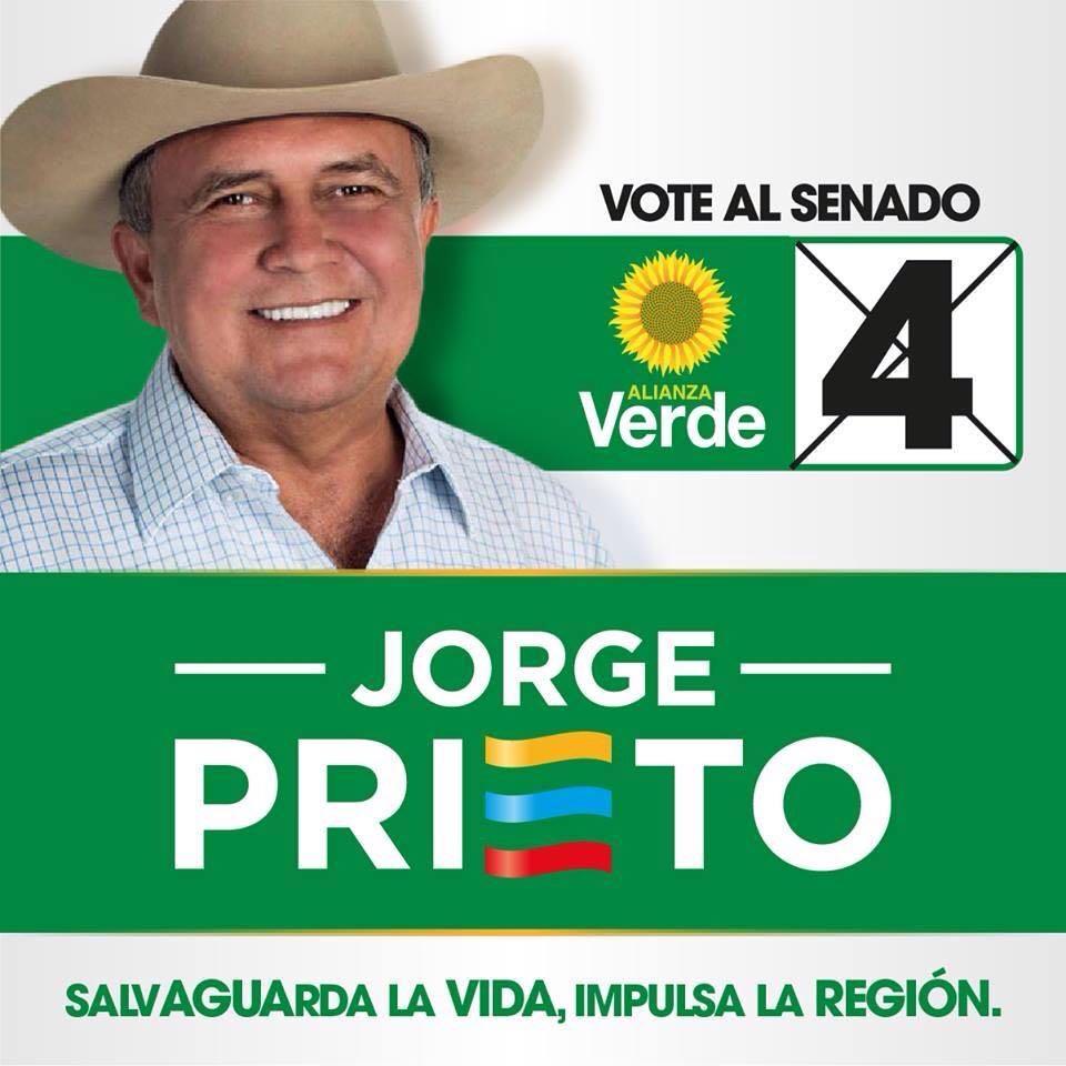 """#EnAudio """"Debemos crear la Región Administrativa y de Planificación de los llanos orientales"""" Jorge Prieto Riveros, Senado por el partido verde con el #4."""