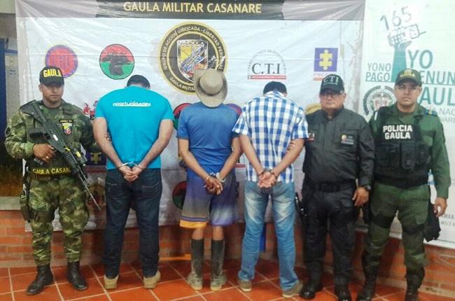 Impactada banda delincuencial 'los rompellanos'. Capturaron a tres de sus miembros.