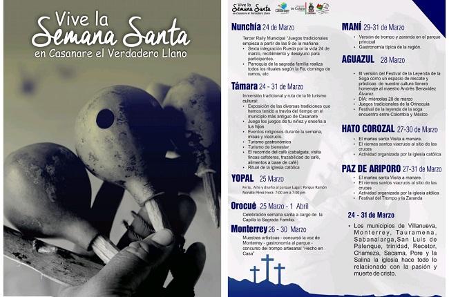 Presentan programación cultural para la Semana Santa en Casanare.