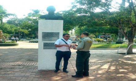 Policía de turismo realizó actividades de prevención y sensibilización al patrimonio cultural.