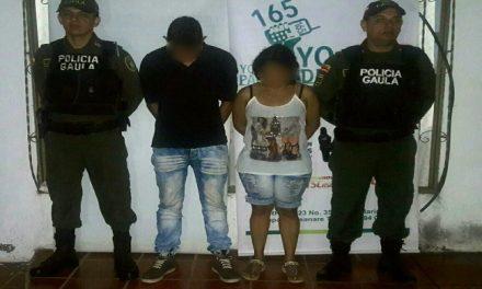 Dos personas fueron capturadas en Pore cuando recibían dinero producto de una extorsión.
