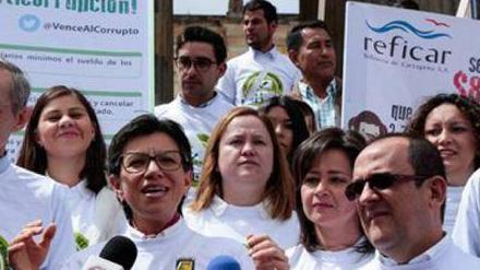 #EnAudio Claudia López, formula vicepresidencial de Sergio Fajardo, habló en Violeta La Paz de la Consulta Anticorrupción
