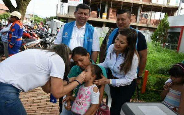 Más de 1.700 dosis se aplicaron en la Jornada Nacional de Vacunación en Yopal.