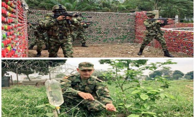 Soldados de la Octava División del Ejército comprometidos con el medio ambiente.