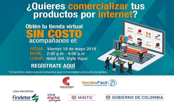 Empresarios de Yopal, tienen la oportunidad de tener una Tienda Virtual.