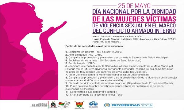 Casanare conmemora hoy el Día Nacional por la Dignificación de las Mujeres Víctimas de Violencia Sexual en el marco del conflicto armado.