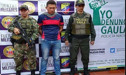 Ejército, policía y CTI-Fiscalía, evitaron consumar una extorsión en Aguazul.