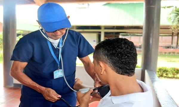 Llevaron jornada de salud a menores infractores de la Granja Manare.