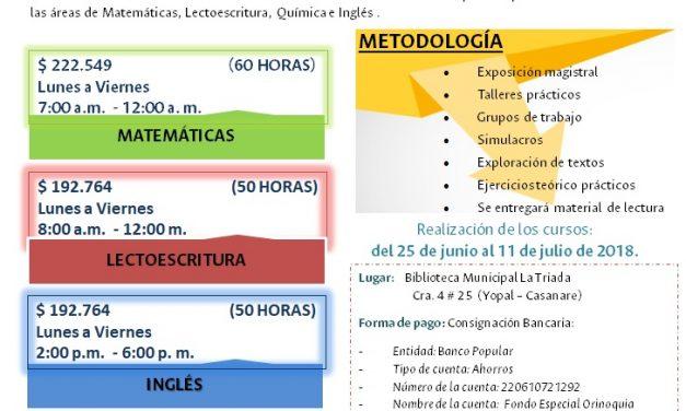 Universidad Nacional Sede Orinoquia abrió inscripciones para cursos libres en matemática, lectoescritura, química e inglés en Arauca y Yopal