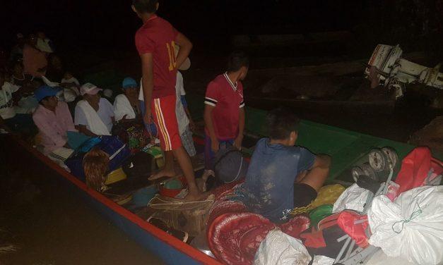 Campesinos de La ribera del río meta en Orocué inundados han perdido sus cultivos y animales