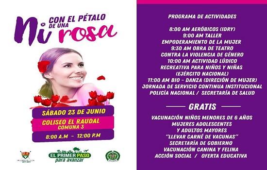 Campaña contra la violencia de género llegará al barrio El Raudal.