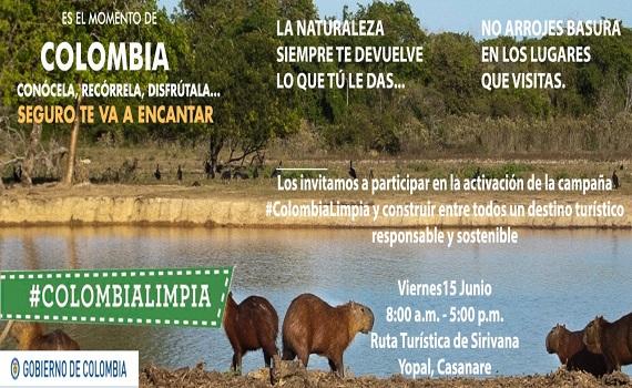 """Yopal se vincula a la campaña nacional """"Colombia Limpia""""."""