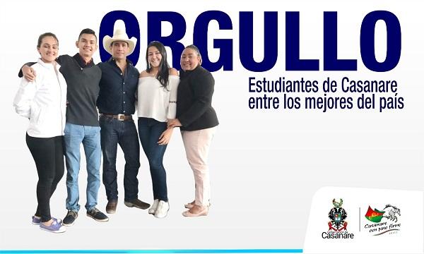 Dos jóvenes casanareños con los puntajes más altos en las pruebas PISA Colombia 2018.