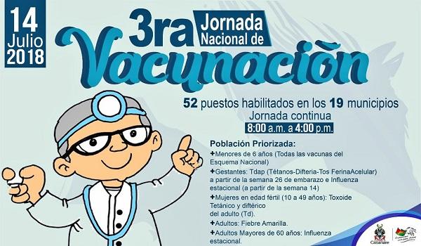 Tercera Jornada Nacional de Vacunación ¡Día de ponerse al día!