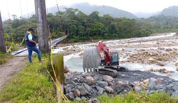 Ya quedó recuperado el puente La Piñalera en Sabanalarga, afectado tras emergencia invernal.