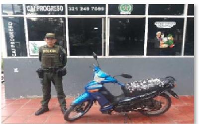 Ofensiva policial para contrarrestar el hurto de motocicletas en Yopal. Ayer siete fueron recuperadas y una persona capturada.
