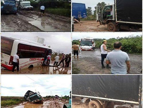 Restricción a la circulación de camiones en la vía hacia Orocué dispuso la Gobernación.